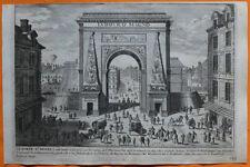 VAN DER AA Gravure originale c1725 PORTE SAINT-DENIS Paris Ludovico Magno