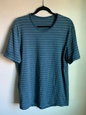 Men's Lululemon 5 Year Basic Short Sleeve T-Shirt Striped Green Size L/Xl