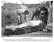 1913 Hindu Cremation, Corpse Covered With Cloth Laid On Pyre