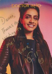 Mandip Gill Hand Signed 8x10 Photocard, Autograph, Doctor Who, Dr Who