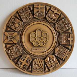 Montreal Summer Olympics 1976 Wooden Wall-Hanging Plaque