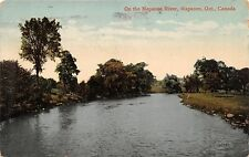 NAPANEE ONTARIO CANADA ON THE NAPANEE RIVER POSTCARD 1942