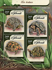 Djibouti 2016 MNH Turtles 4v M/S Reptiles Tortues