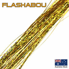 Gold Holographic Flashabou 0.5mm - Tinsel, Fly Tying Materials, Jig Assist