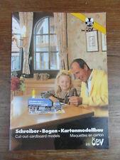 CATALOGUE SCHREIBER BOGEN KARTONMODELLBAU 1988 carton modelisme