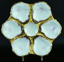 Antique Haviland & Co 6 Well Oyster Plate for Bailey Banks & Biddle c. 1876