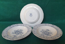 Masons 'Stratford' Pattern Blue & White Soup Bowls x3