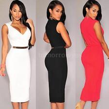 Polyester Wiggle, Pencil V Neck Regular Dresses for Women