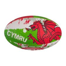 Balón de Rugby - Rugby Ball - Gales Wales - Talla 5 - Optimum