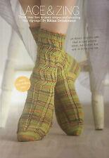 KNITTING PATTERN Ladies Zig Zag Patterned Ankle Socks Lion Brand Womens PATTERN