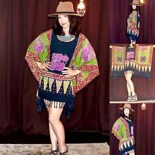 Vintage Retro 70s boho hippie ethnic tunic mini dress