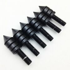 Black Motorcycle Spike Bolts Windscreen, Fairings, License Plate 6PCS