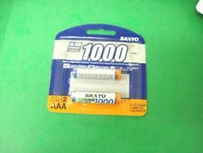 BATTERY  AAA SANYO JAPAN  RECHARGEALE NIMH 1000 MAH  2 /CARD 6 CARDS 12 EACH