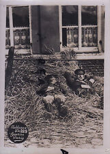 WW1 Officers General & Colonel ? resting in straw August ? Sept ? 1914 in France