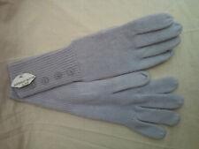 Supersoft button grey woollen acrylic ladies women's gloves