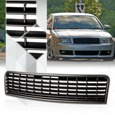 Matte Black ABS Classic Mesh Front Bumper Grille/Grill for 02-05 Audi A4/S4 B6
