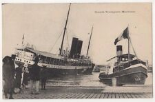 Grand Transports Maritime, France Steam Boats Postcard B625
