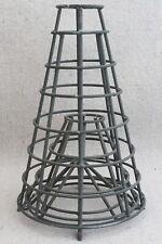 "Vintage Metal Wire Cone Pyramid Flower Frog Cage Floral Display Centerpiece 8"""