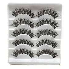 5Pair Crossed False Eyelashes Strips Thick Natural Fake Eyelash Cilios Eye Lashe