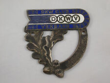 Very Old DKW car badge Autumn Competition 1960 Enamel Vintage Car Rare