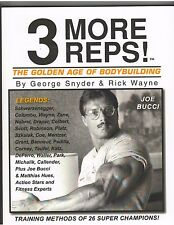 3 More Reps  Bodybuilding Muscle Book/Arnold Schwarzenegger/Joe Bucci 2006