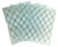 "Vellum Sheets Custom Print, Geometric Pattern 8.5"" x 11"" Lot of 4 Not Folded NEW"