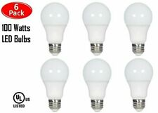 6 Pcs 100 Watt LED 3000K Warm White Energy Saving 100W A19 12W Light Bulb UL