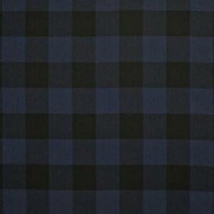 Blue Black Upholstery Fabric by Ralph Lauren R$204y Craftsman Plaid CL Indigo