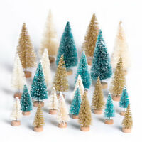 8x Mini Christmas Tree Small Pine Tree Sisal Bottle Brush Tree Tabletop Decor