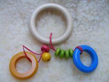 Greifling Holzspielzeug Baby Spielzeug Rassel Klapper Kinderwagenkette Holz