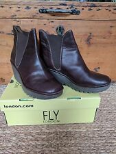 Ladies Size 5 FLY London pull on leather Chelsea ankle boots RRP £99