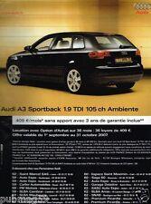 Publicité advertising 2007 Audi A3 Sportback 1,9 TDI