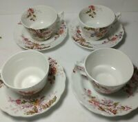 Booths Chinese Tree Demitasse teaCup & Saucer Footed Made in EnglandVintage 8set