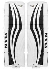 "New Vaughn Xf Pro Sr goalie leg pads 32""+2 White/Black Velocity V7 senior hockey"