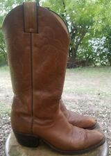 Justin Women's Antique Brown Smooth Western Boots  L5524 Size US 6.5 B