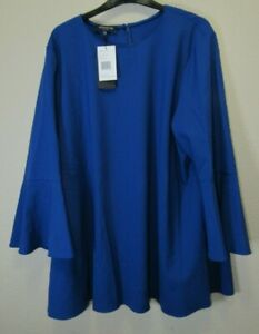 NWT Lafayette 148 New York Blue Bell Sleeve Blouse Sz.XXL, Ret. $298