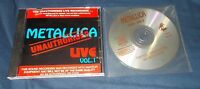 Metallica Live Unauthorised vol. 1 & vol. 2 fade to black Master of Puppets