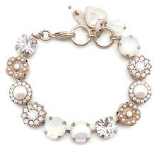 MARIANA Bermuda Swarovski Rose Gold Bracelet White Clear & Pearl Mosaic 2340