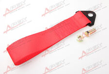 RED HIGH STRENGTH RACING TOW STRAP SET FOR FRONT/REAR BUMPER HOOK TRUCK/SUV R