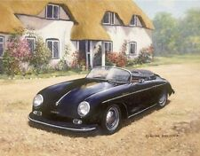 Classic Car Porsche Cars 356 Speedster Blank Birthday Fathers Day Card