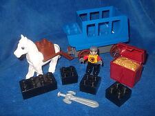 LEGO DUPLO SCHLOSS PRINZESSIN RITTERBURG GROSSE KUTSCHE + PFERD + SCHATZ usw.