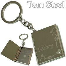 Esprit porte cle pendentif porte-clés pin Livre métal coeur neuf