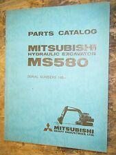 MITSUBISHI MS580 EXCAVATOR INCLUDES ENGINE FACTORY PARTS CATALOG  SERIAL # 140-