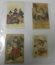 VINTAGE Victorian Trade / Ad Cards SOAP Singer JP COATS Cotton Lot of 4 VG