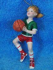 Kurt Adler Girl Basketball Player Christmas Ornament