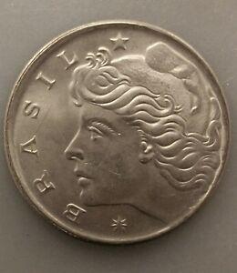 UNCIRCULATED 1970 50 CENTAVOS BRAZIL COIN KM#580a