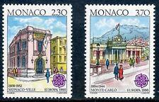 TIMBRE DE MONACO N° 1724/1725  ** BATIMENTS POSTAUX D'HIER / ANCIENNE POSTE