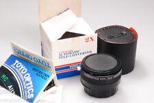 TOTO OPTICS 2X TELECONVERTER MINT W/BOX. FITS NIKON AI  CAPS/CASE INCLUDED