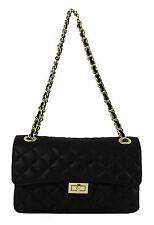 Chicca Borse borsa pochette trapuntata 100% vera pelle Made in Italy nero 6078