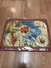 Punch Studio Die Cut Placemats with Peacock Pier 1 Imports Set of 12